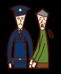 被捕的罪犯(爺爺)的插圖