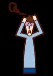混乱する人・パニックを起こす人(男性)のイラスト