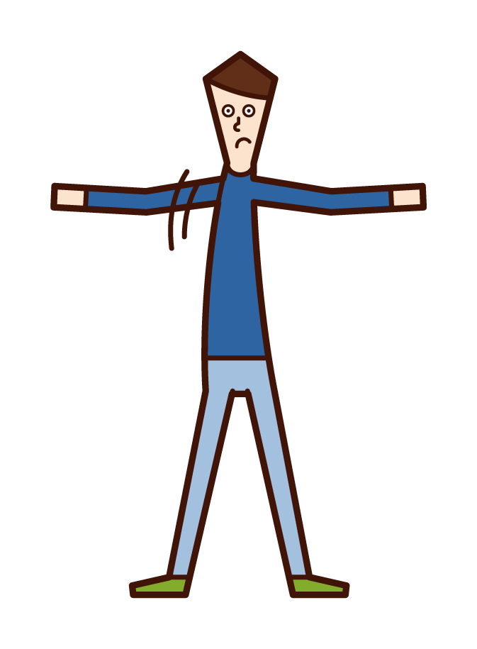 Illustration of a child (boy) who is in a way