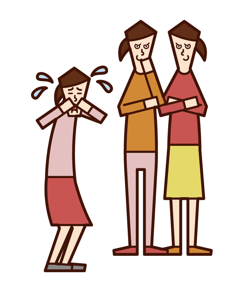 Illustration of a child (girl) bullying