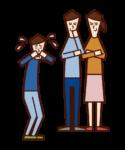 Illustration of a child (boy) bullying