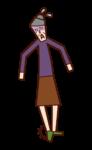 捻挫(おばあさん)のイラスト