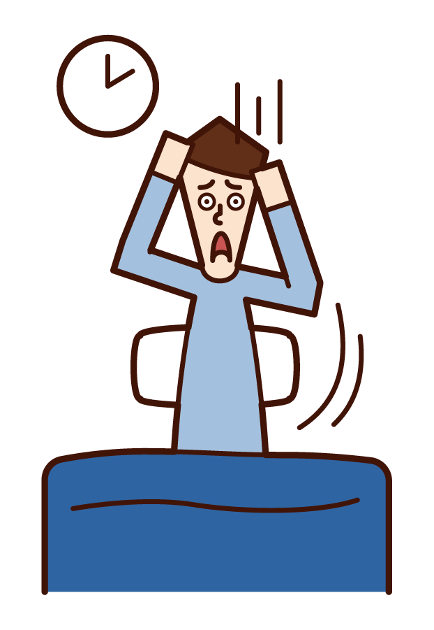 Illustration of insomnia (male)