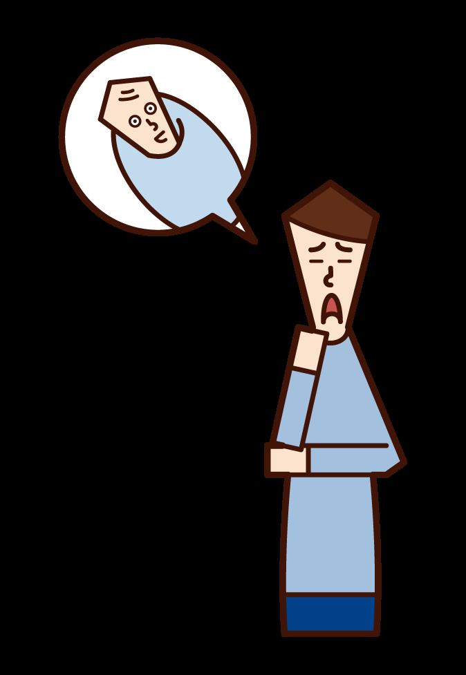 不妊症・不妊治療(男性)のイラスト