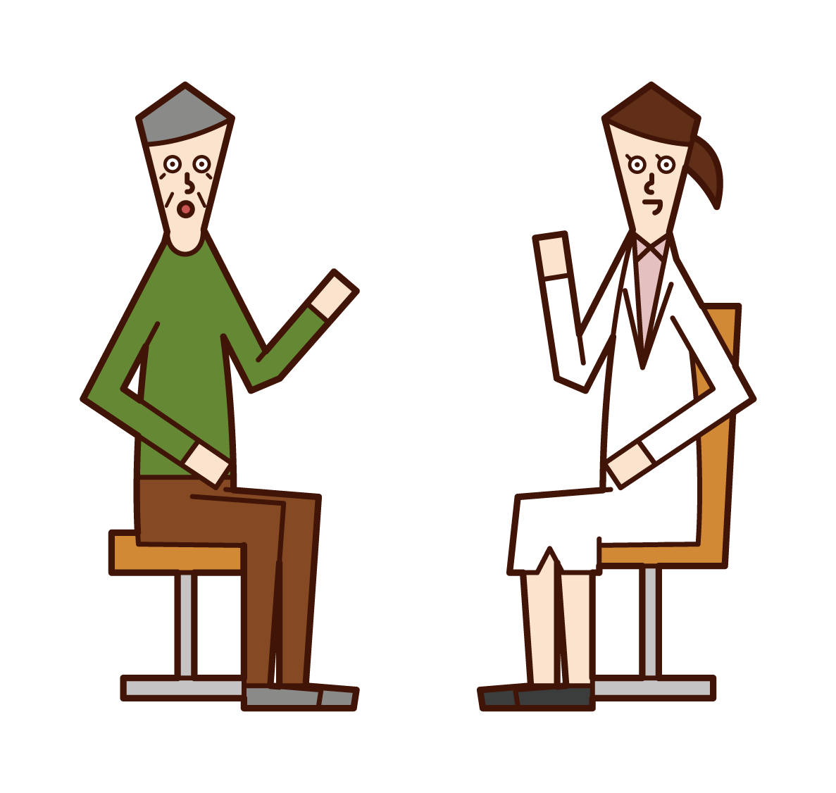 Illustration of a doctor (old man)