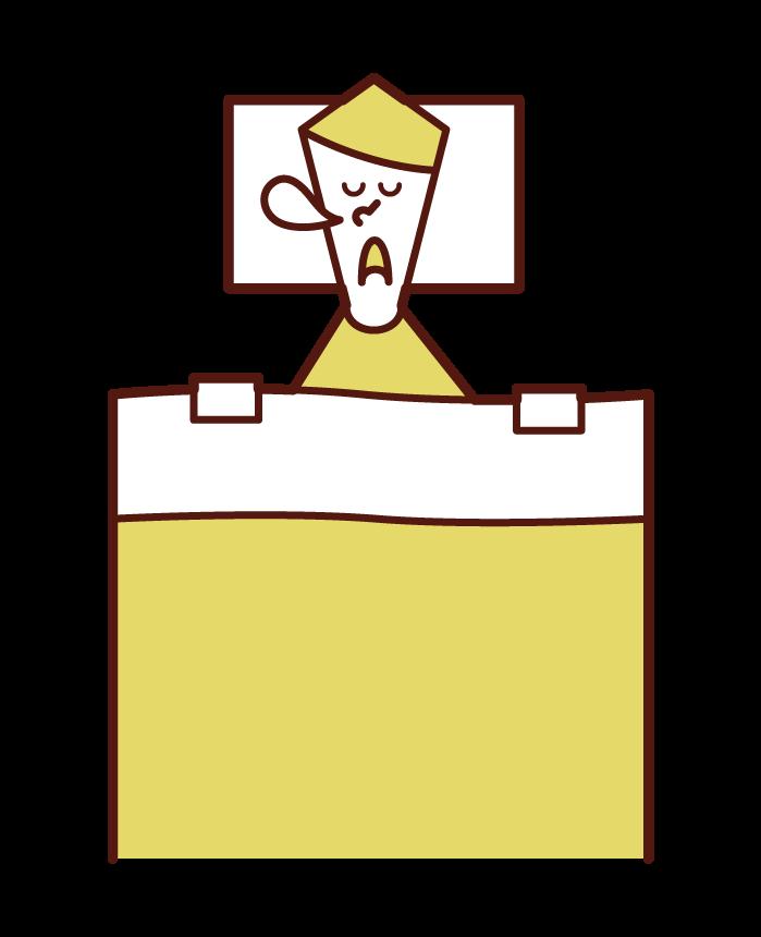 Illustration of sleeping person sleeping (male)