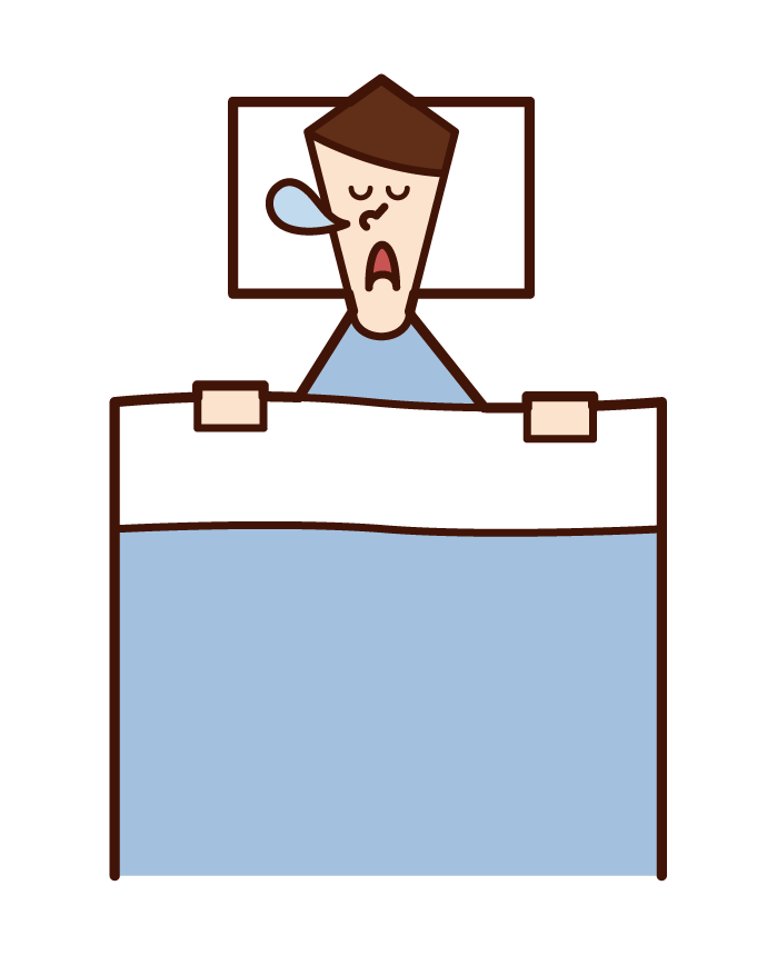 Illustration of sleeping person sleeping (male)