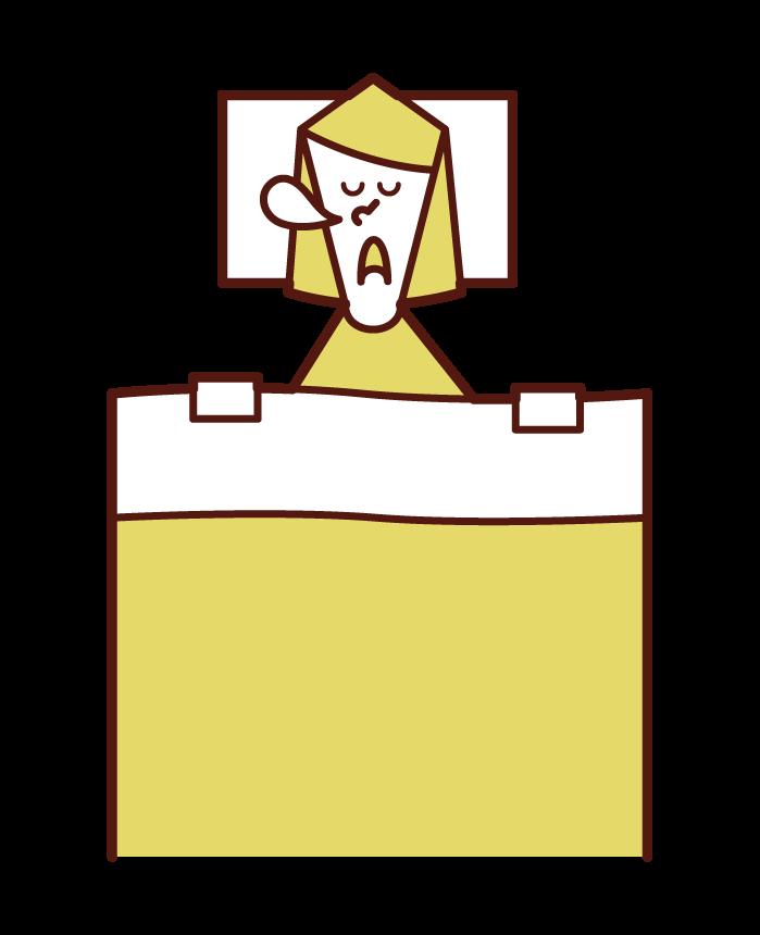 수면 사람과 수면 (여성)의 그림