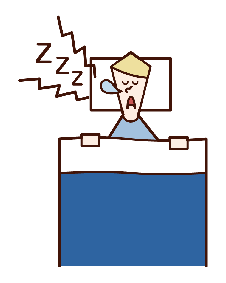 Illustration of a person (male) who sning