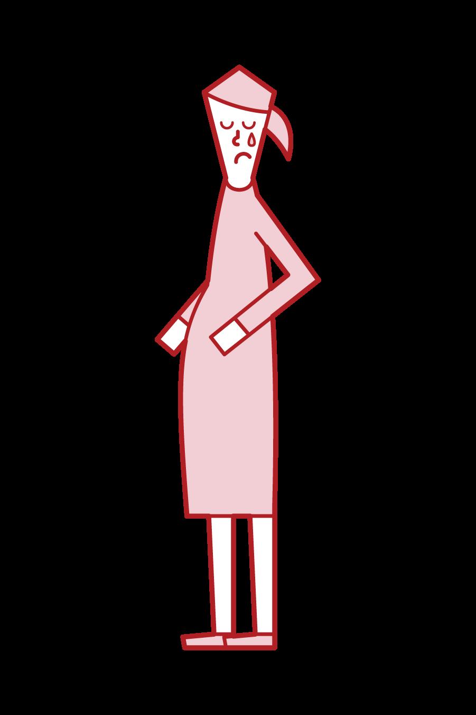 不育症(女性)のイラスト