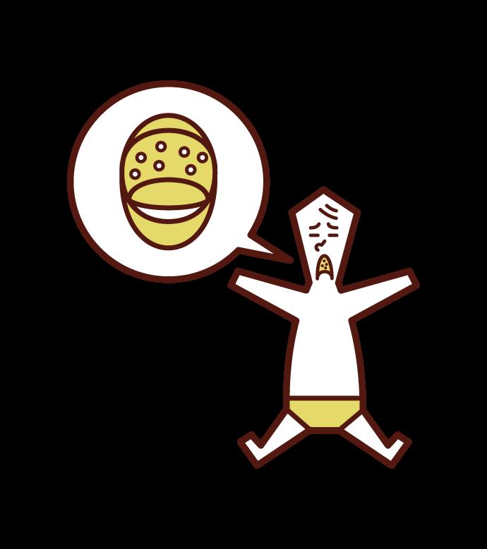 Illustration of Herpangina (baby)