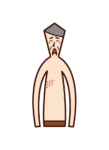 Illustration of shingles (old father)