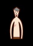 帯状疱疹(おじいさん)のイラスト