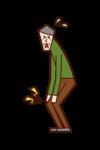 膝蓋疼痛和膝關節炎(爺爺)的插圖