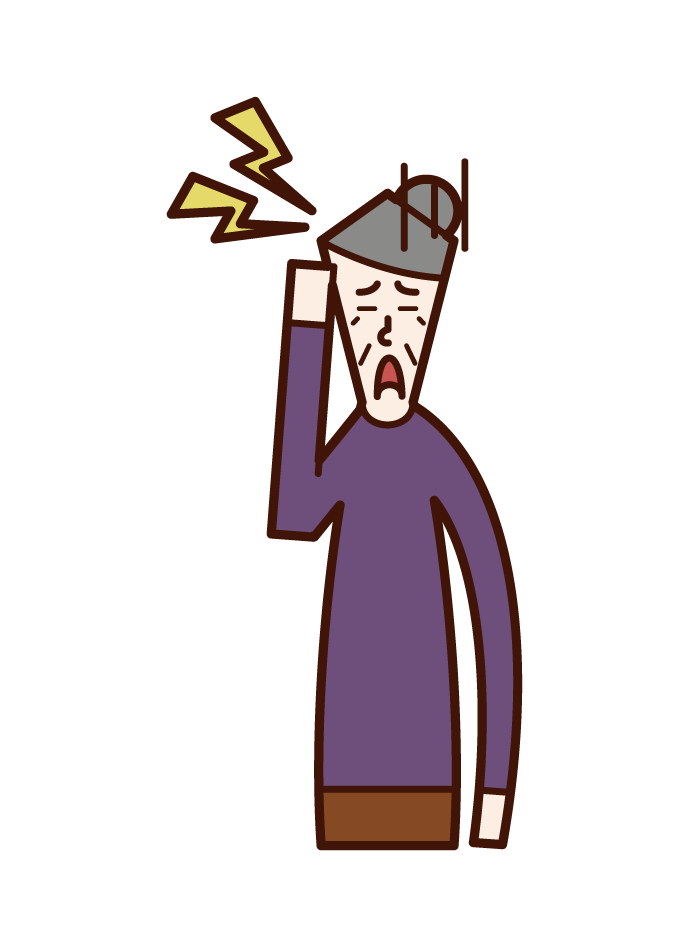 Migraine (grandmother) illustration