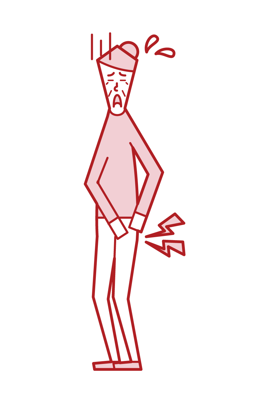 Illustration of hip joint disease (grandmother)