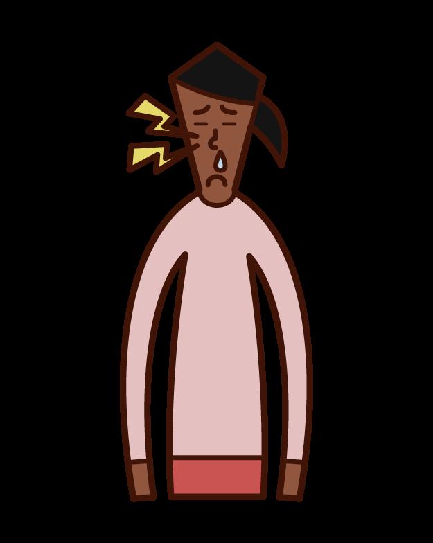만성 부비동염 및 농양 (여성) 그림