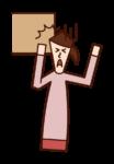 머리 타박상 (여성) 그림