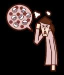Illustration of leukemia (female)