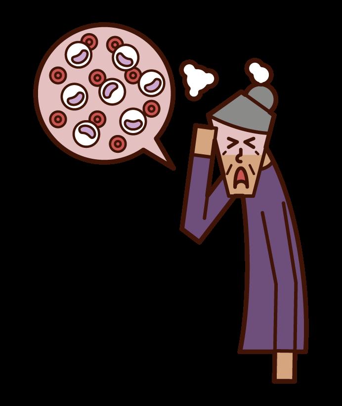 Illustration of leukemia (grandmother)