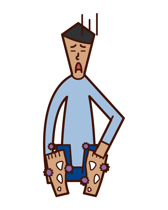 Illustration of insect repellent and ringworm (male)