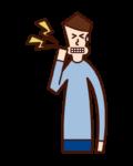 Illustration of cavity (male)