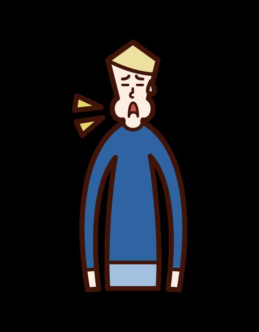 Illustration of mumps (boy)