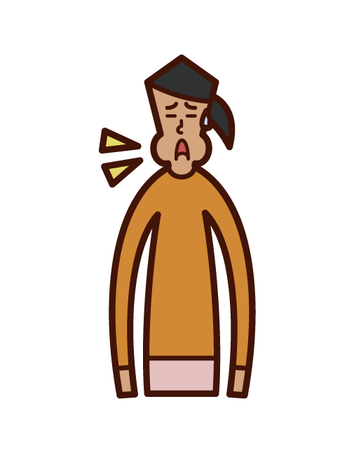 의대 감기 (소녀) 일러스트