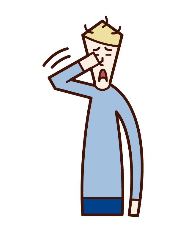 Illustration of a man who wakes up