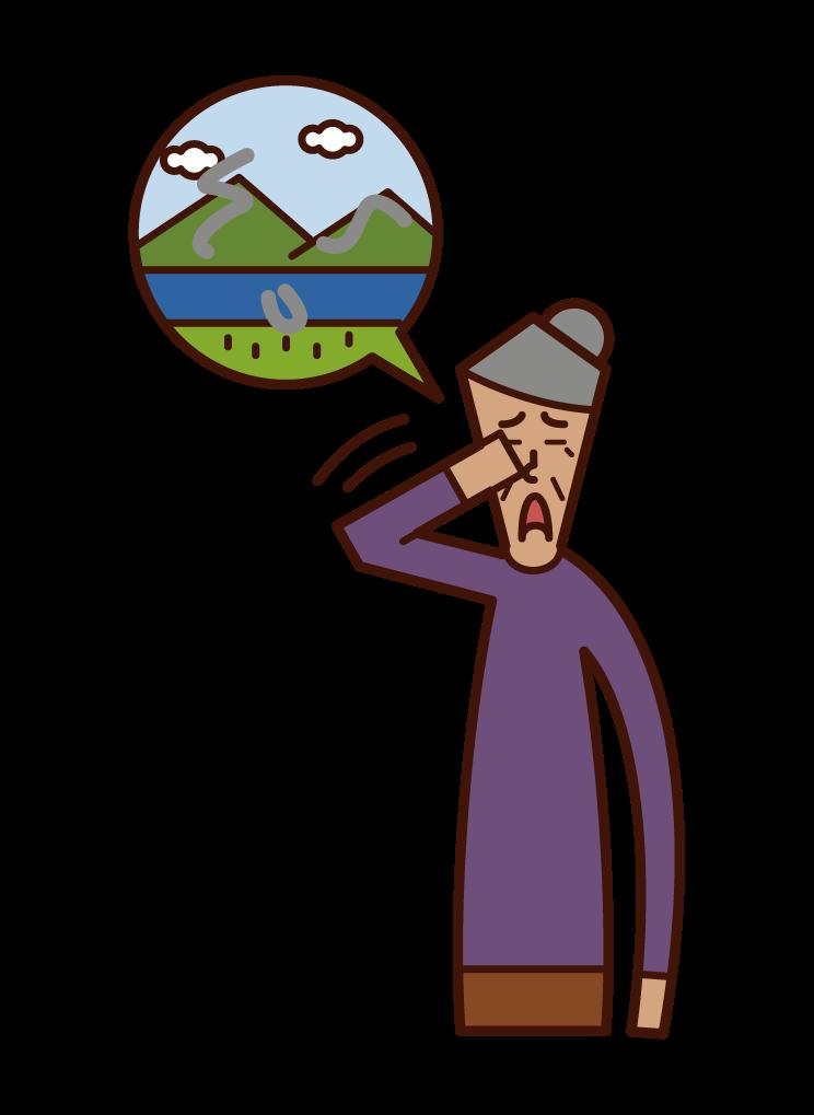 비행 모기 질병 (할머니)의 그림
