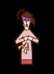 허혈성 심장 질환, 심근 경색, 협심증, 심부전 (소녀)의 그림