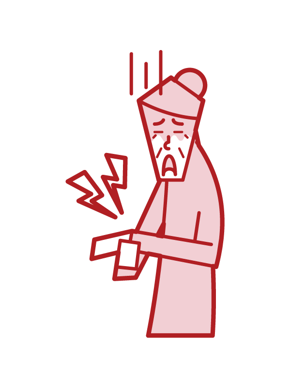 Illustration of tenosynovitis (grandmother)