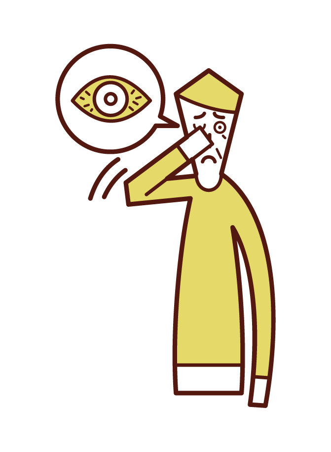 각막염, 결막염 및 눈 충혈의 그림