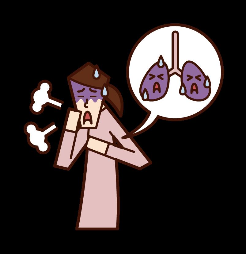 폐암과 폐 질환 (할아버지)의 그림