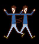 Illustration of a calm child (boy)