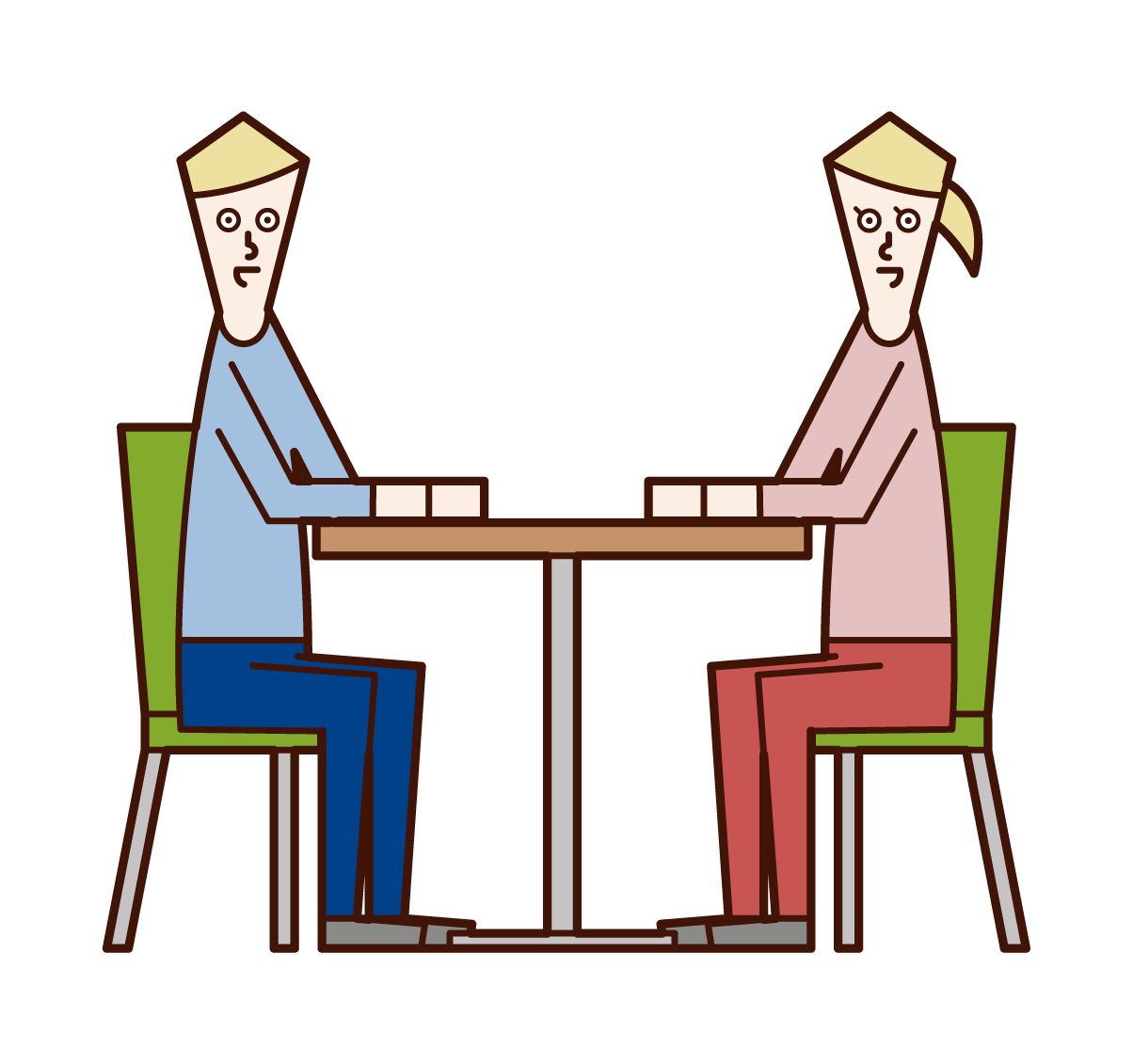 Illustrations of dialogues, dialogues, and meetings