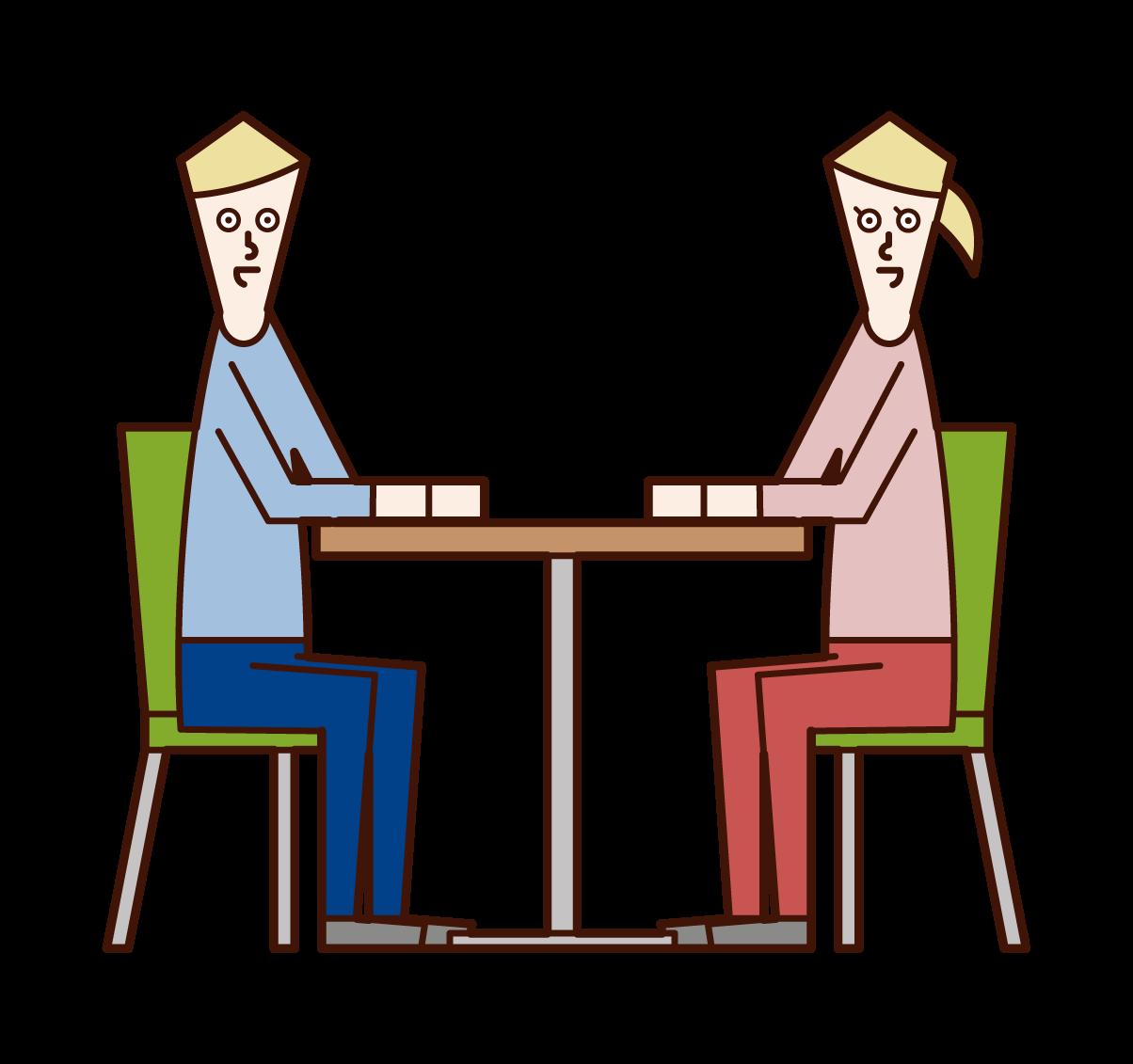 対話・対談・打ち合わせのイラスト