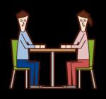 대화, 대화 및 회의 일러스트레이션