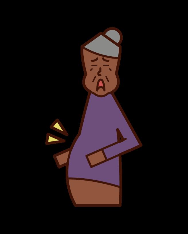 대사 증후군 (할머니) 그림