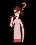 Illustration of taste disorder (female)