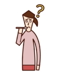 Illustration of taste disorder (woman)