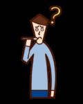 Illustration of taste disorder (male)