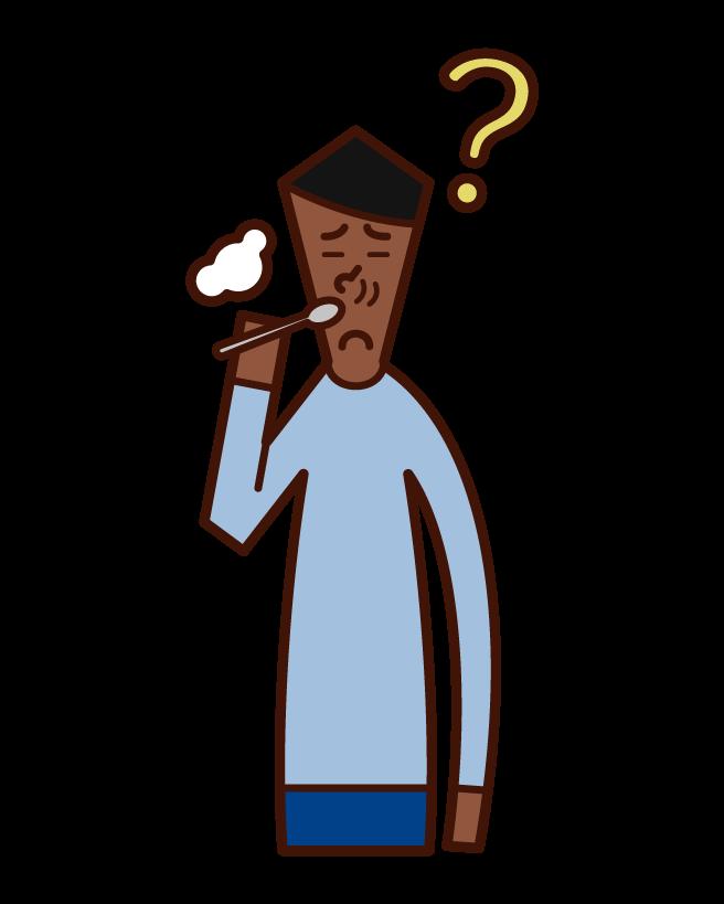 후각 장애 및 비정상적인 후각 (남성)의 그림