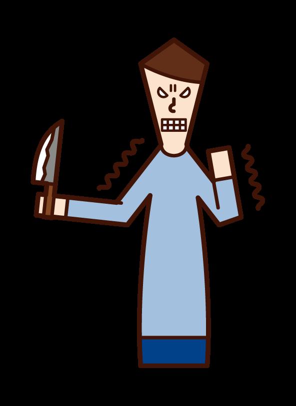 원한, 원한, 증오(남성)의 삽화