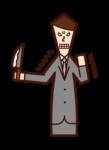 Illustration of grudge, grudge, hatred (man)