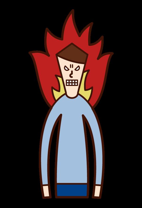 원한, 원한, 분노(남성)의 삽화