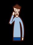 슬픔, 슬픔, 감동(남성)의 삽화
