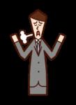 放棄的人(男性)的插圖