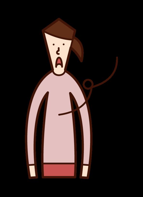 虚しい・空虚(女性)のイラスト