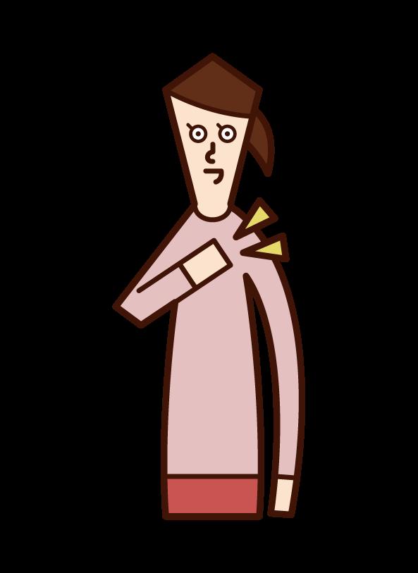 自信・責任(女性)のイラスト